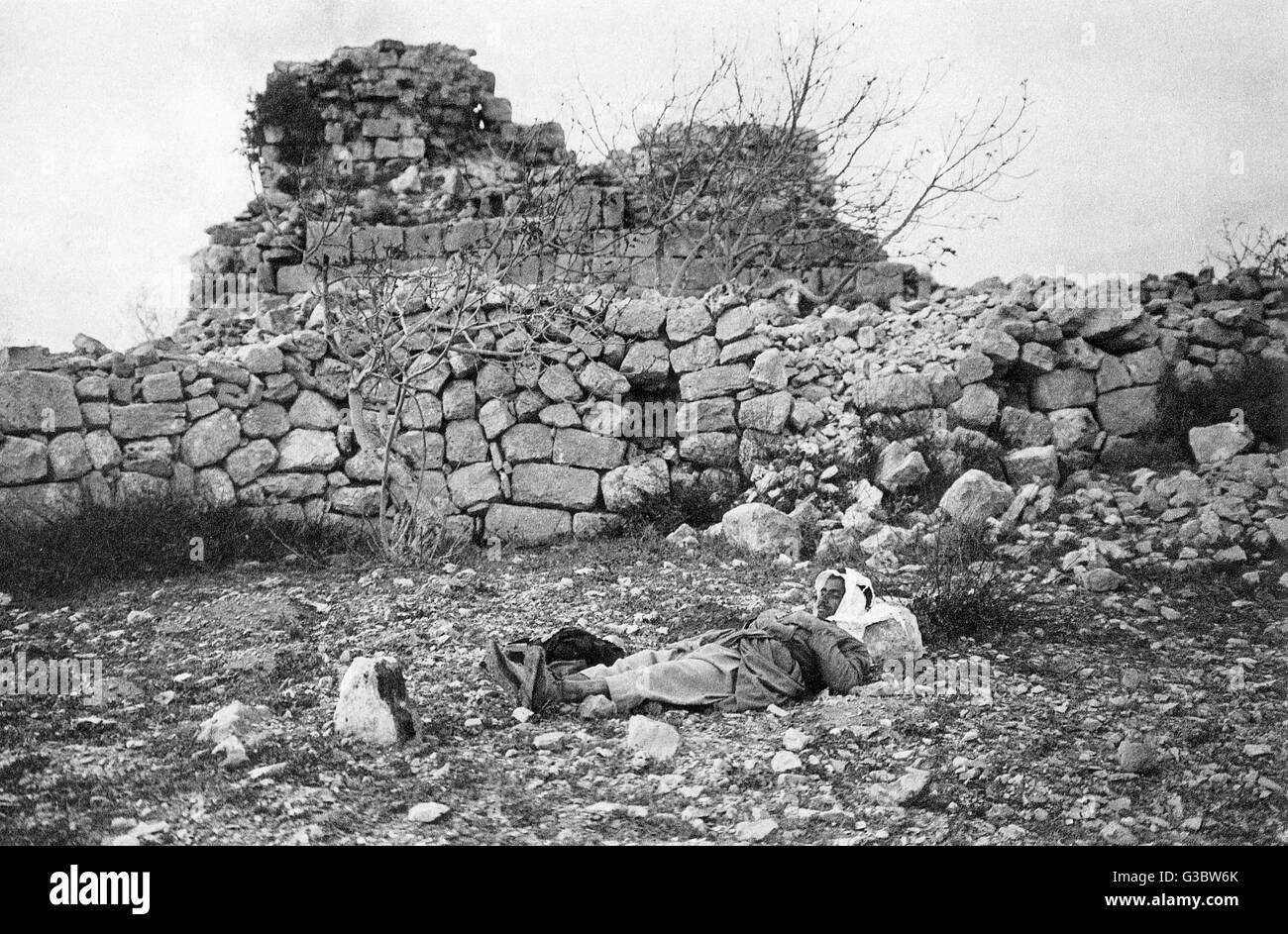 Beitin (identificato come la biblica Bethel), Palestina, West Bank. Data: 1920s Foto Stock
