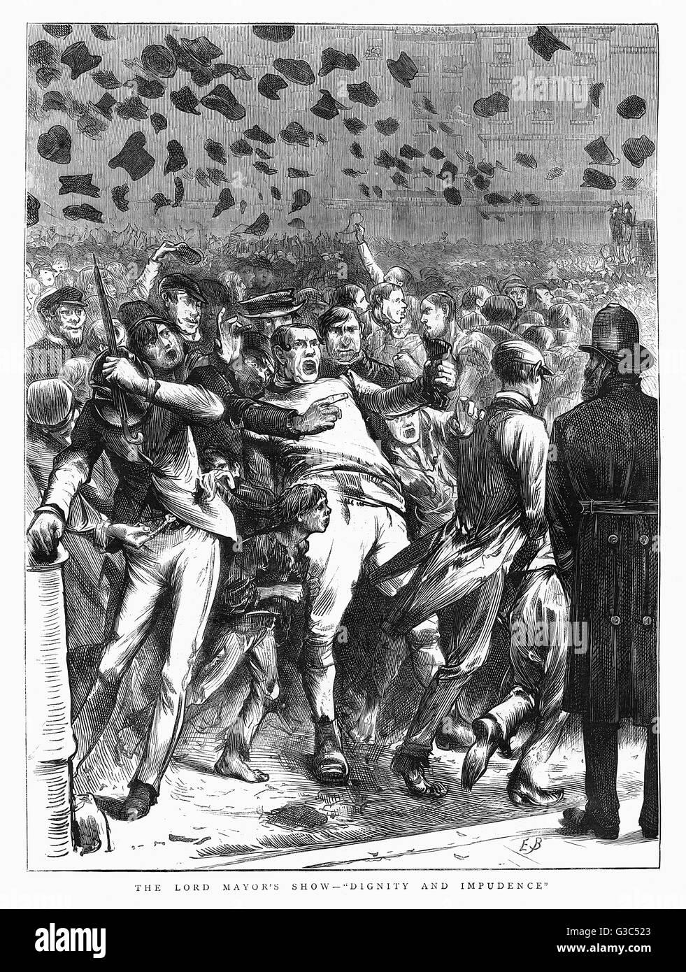 Il signore sindaco di Show - Dignità e impudenza da data: 1871 Foto Stock