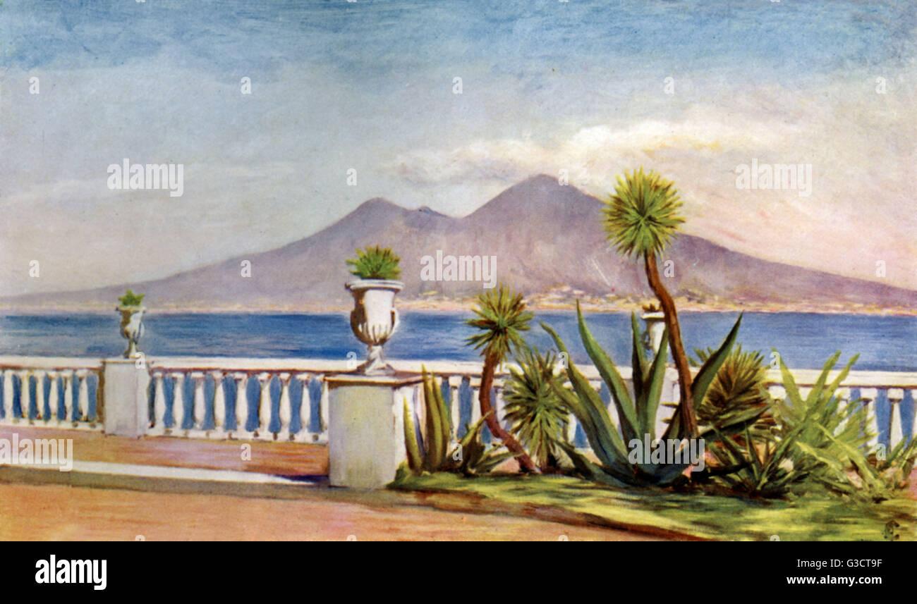 La splendida vista sul mare dalla terrazza di Villa Gallotti. Si ...