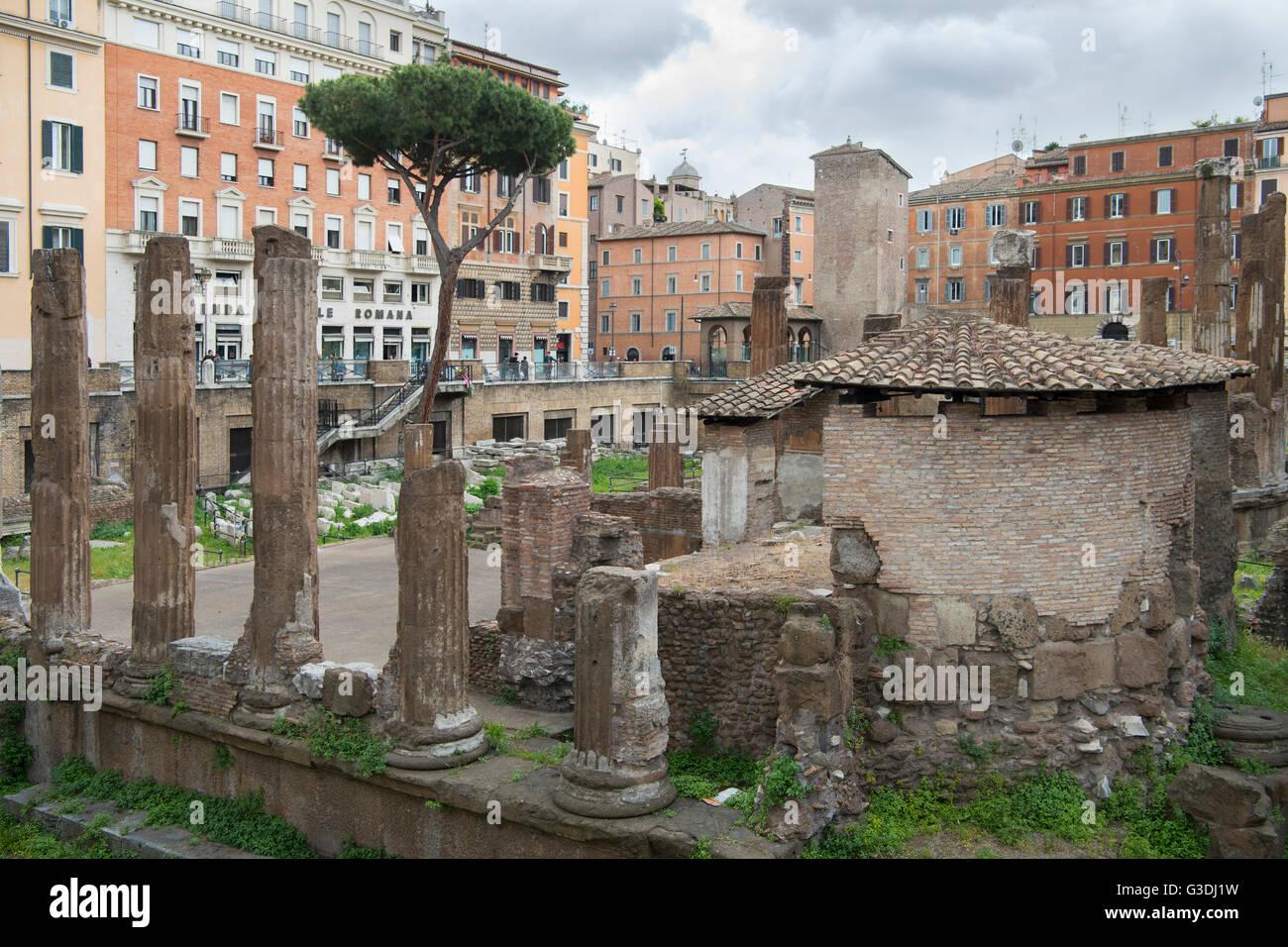 Italien, Rom, Largo di Torre Argentina, Tempelruinen Immagini Stock