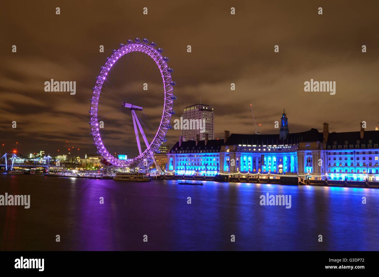 Londra, Regno Unito, la London Eye, Regno Unito Immagini Stock