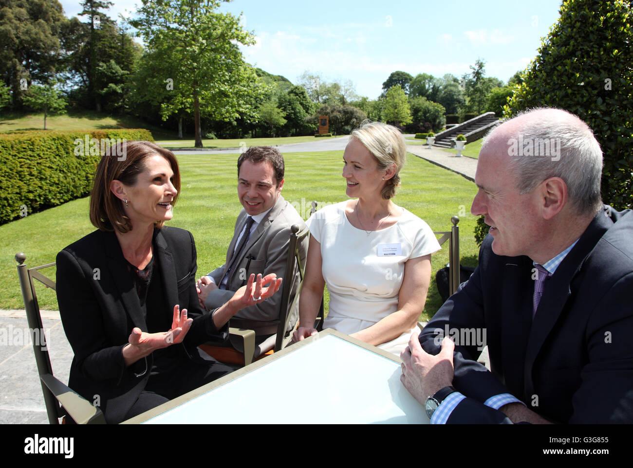 Arte irlandese professionisti shop talk in arte$vertice 2016, Dromoland Castle Immagini Stock