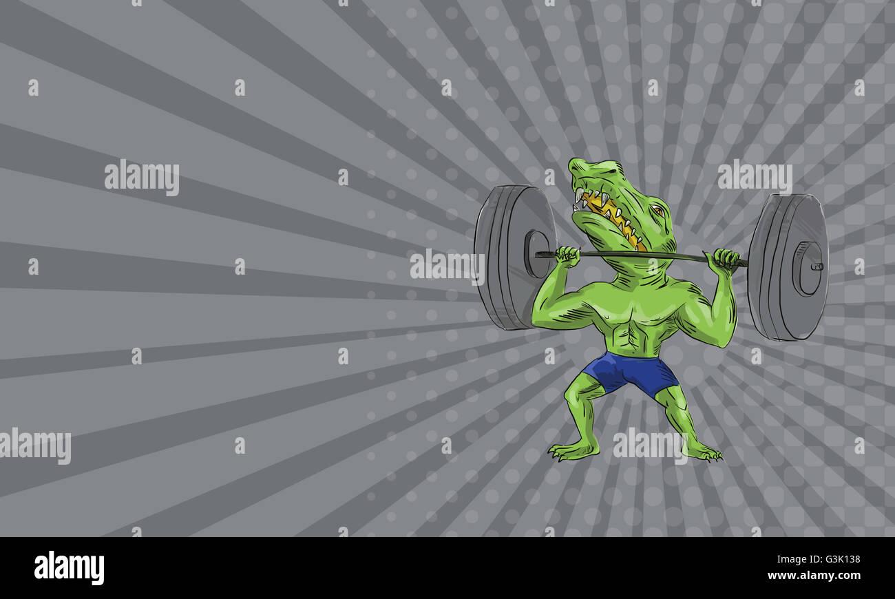 Business card mostra illustrazione di sobek chiamato anche sebek