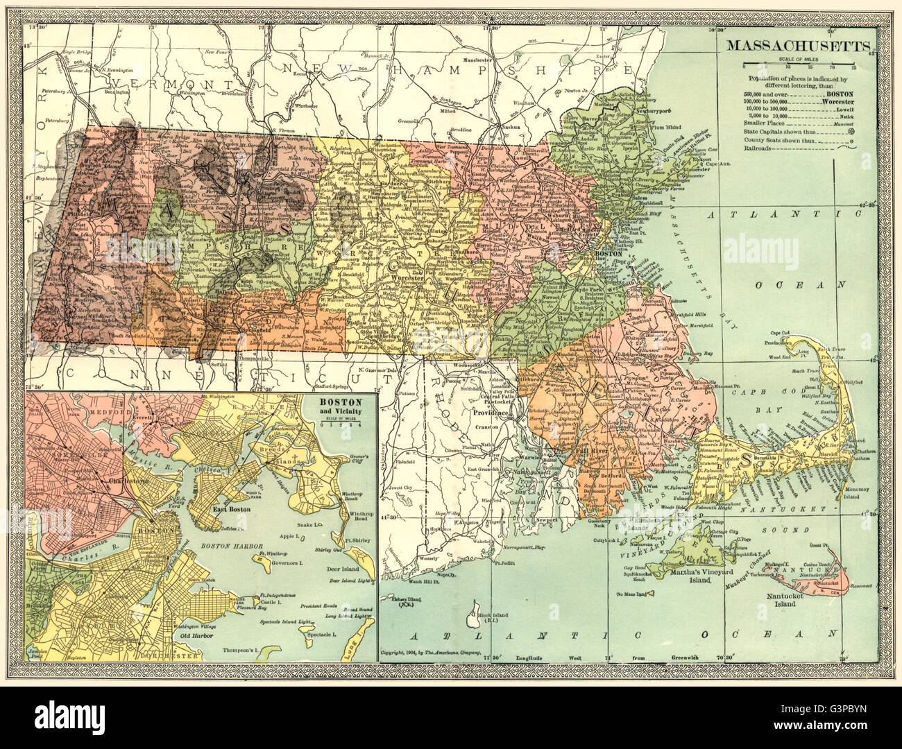 Cartina Geografica Boston