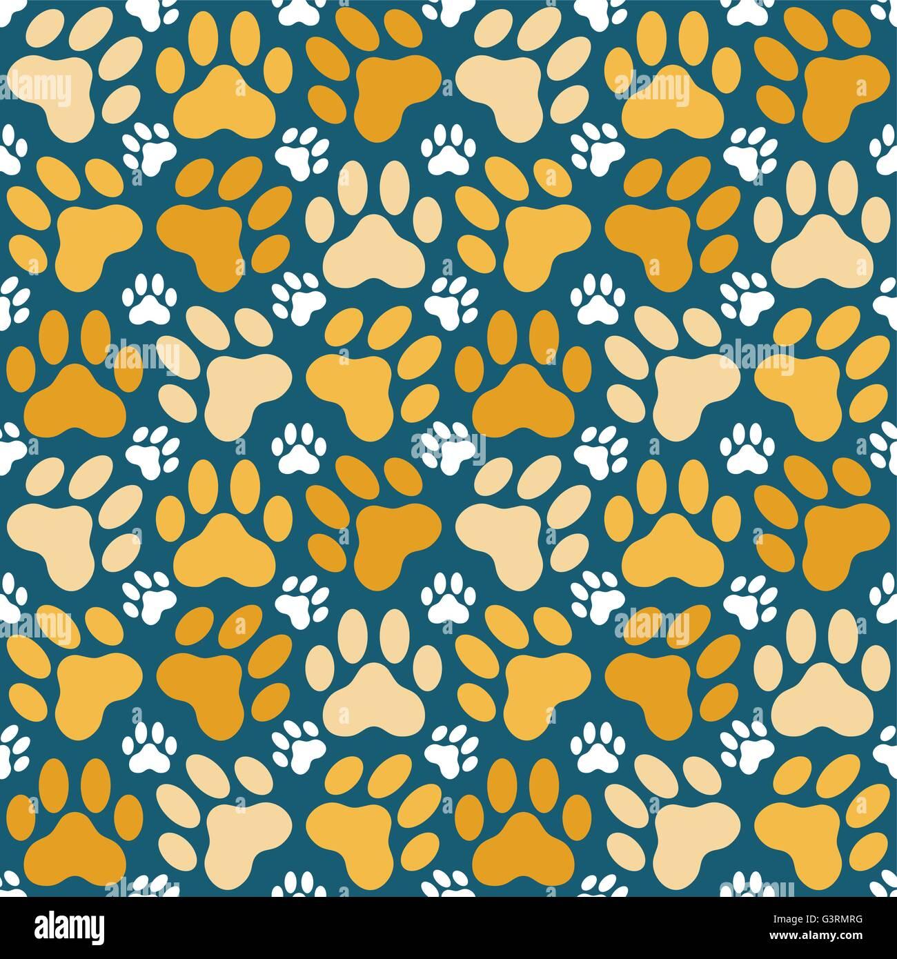 Seamless sfondo pattern fatta di zampa di gatto di stampe Immagini Stock