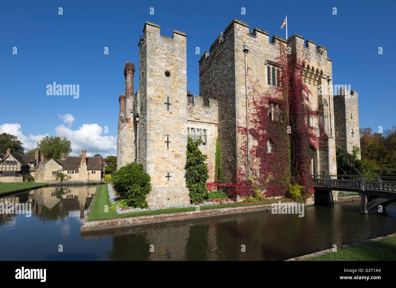 Il castello di Hever Castle e giardini, Hever, Kent, England, Regno Unito, Europa Immagini Stock