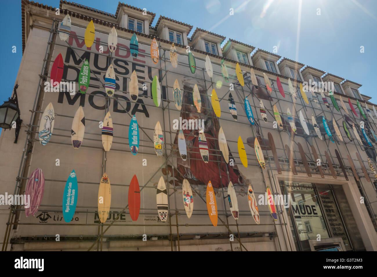 Moda Museum di Lisbona Portogallo Immagini Stock