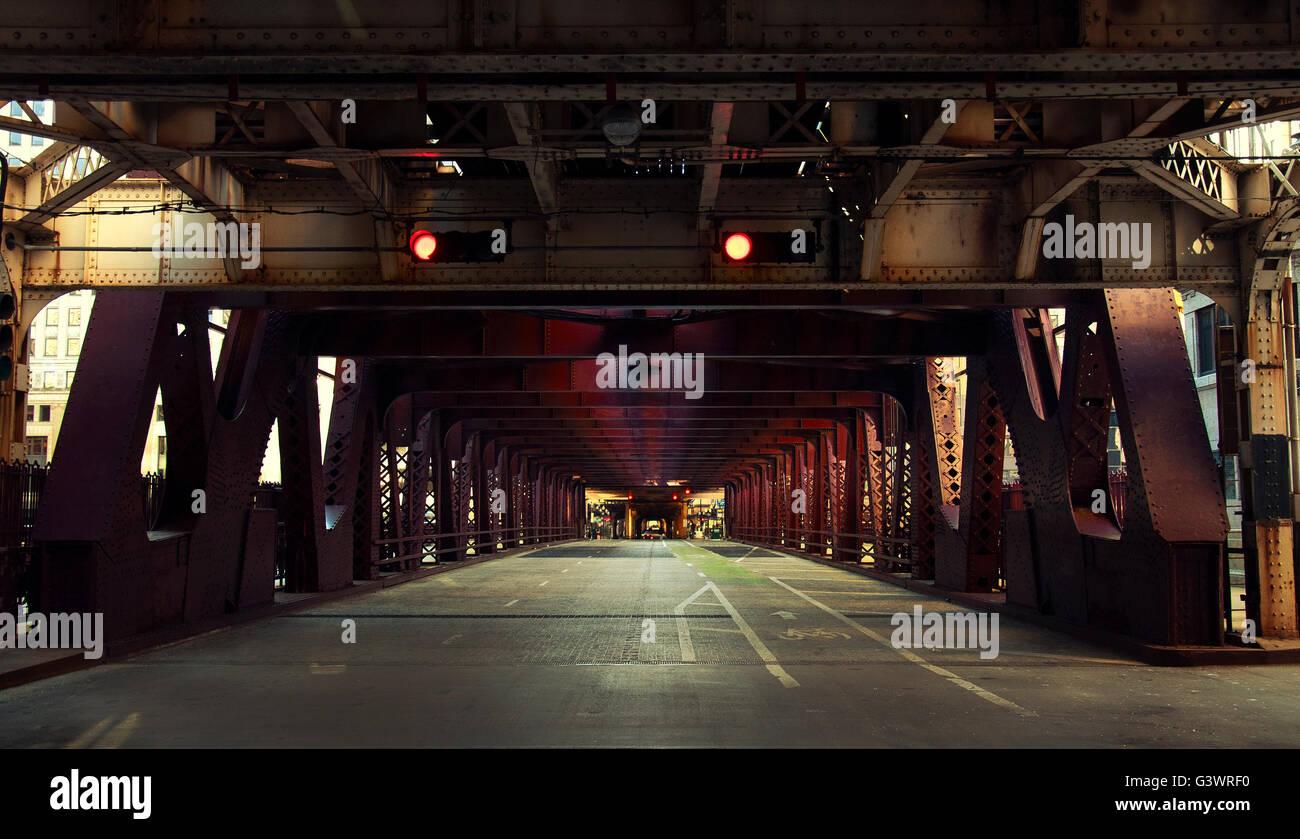 Tunnel, Chicago Immagini Stock