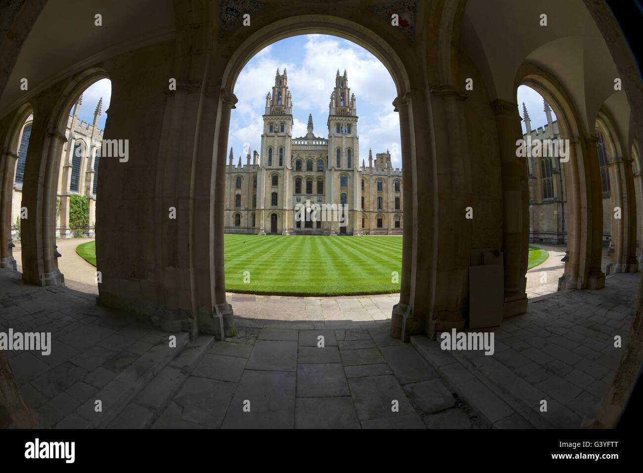 All Souls College di Oxford University Campus, Oxfordshire, England, Regno Unito, Europa Immagini Stock