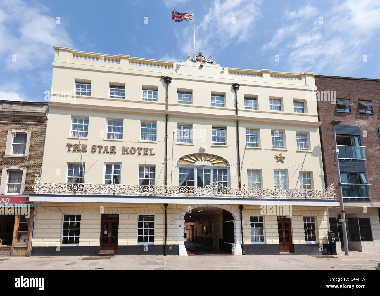Lo Star Hotel in Southampton, Hampshire, Regno Unito Immagini Stock
