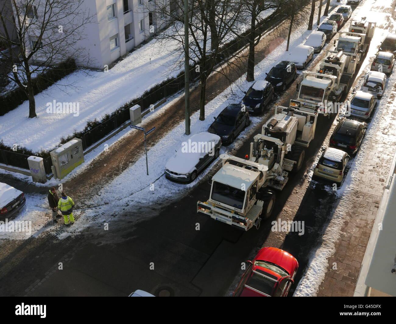 Europa Germania Monaco di Baviera Geo Thermie Vibro Seismics sismica misurazioni Immagini Stock