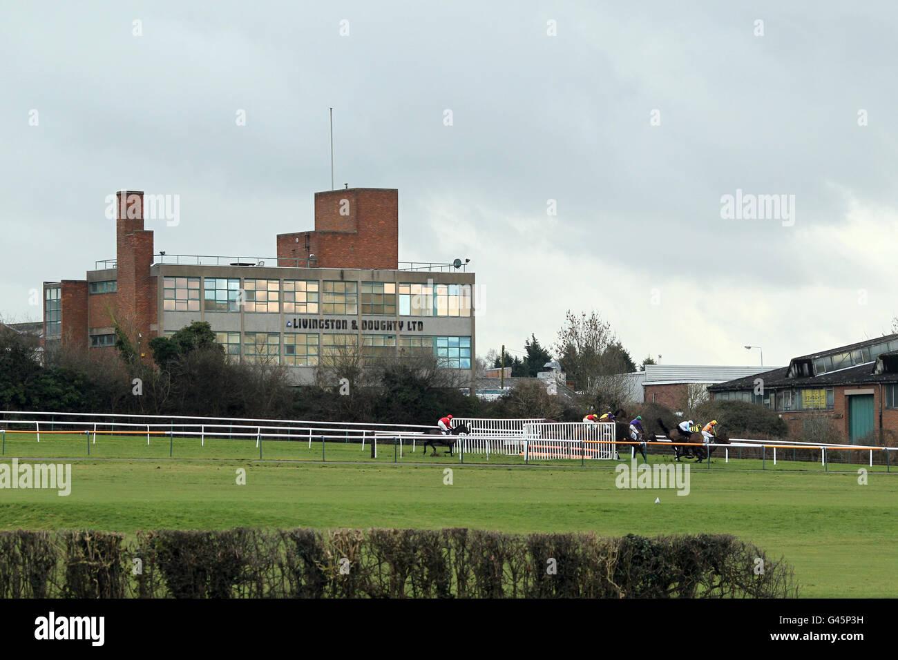 Horse Racing - Leicester Racecourse Foto Stock