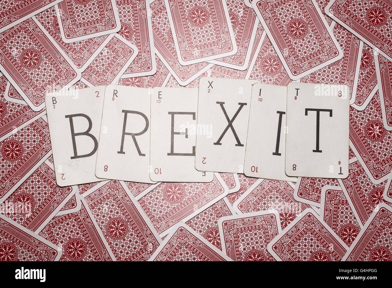 Still Life studio Concetto di immagine per il Regno Unito referendum sull' adesione all' Unione europea Immagini Stock