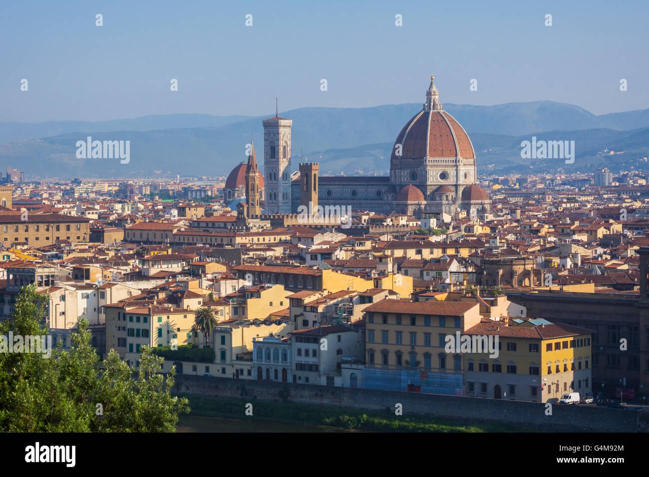 Firenze, Toscana, Italia. Vista sulla città al Duomo - Cattedrale di Santa Maria del Fiore Immagini Stock