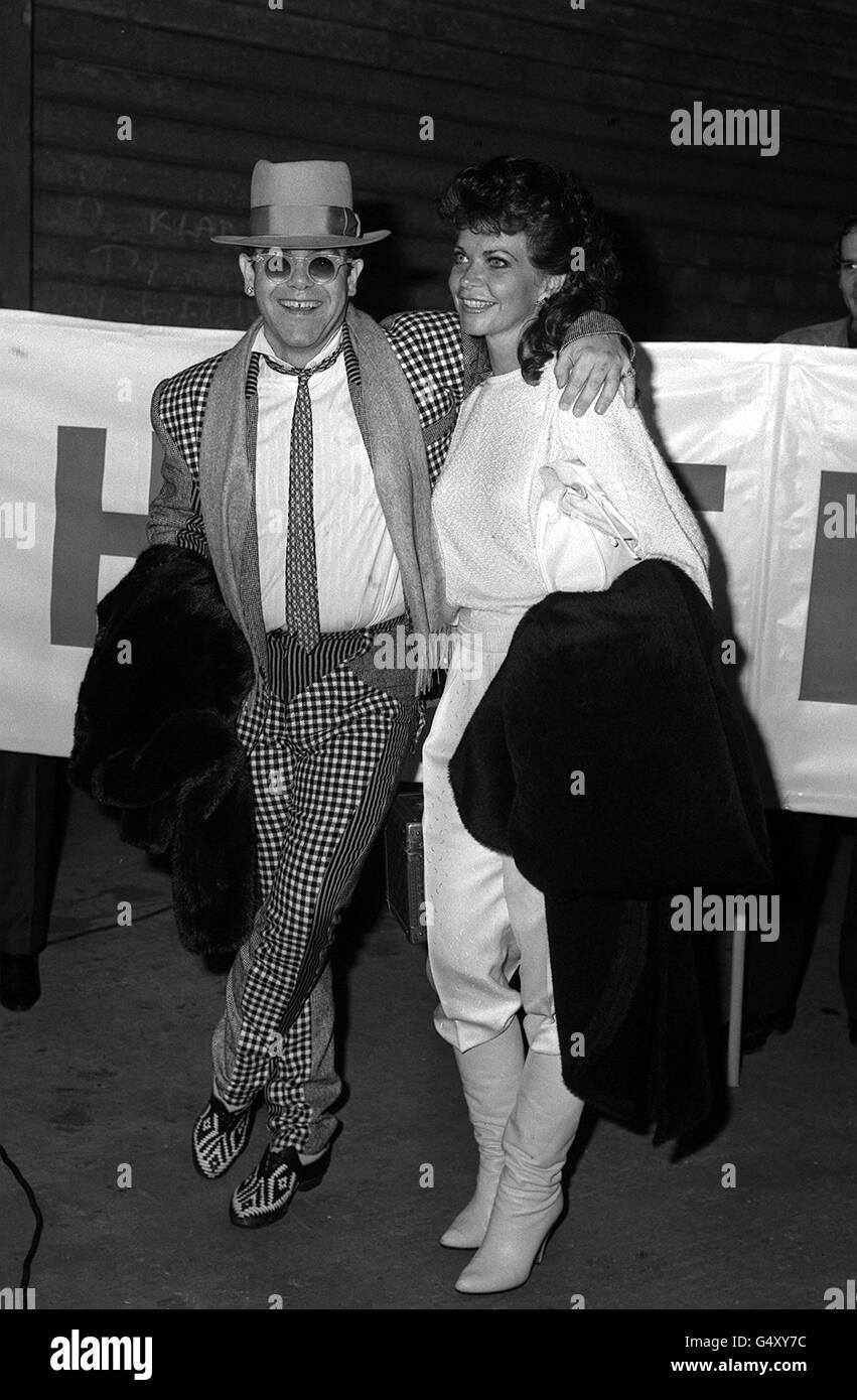 Elton John e la moglie Renate Foto stock - Alamy