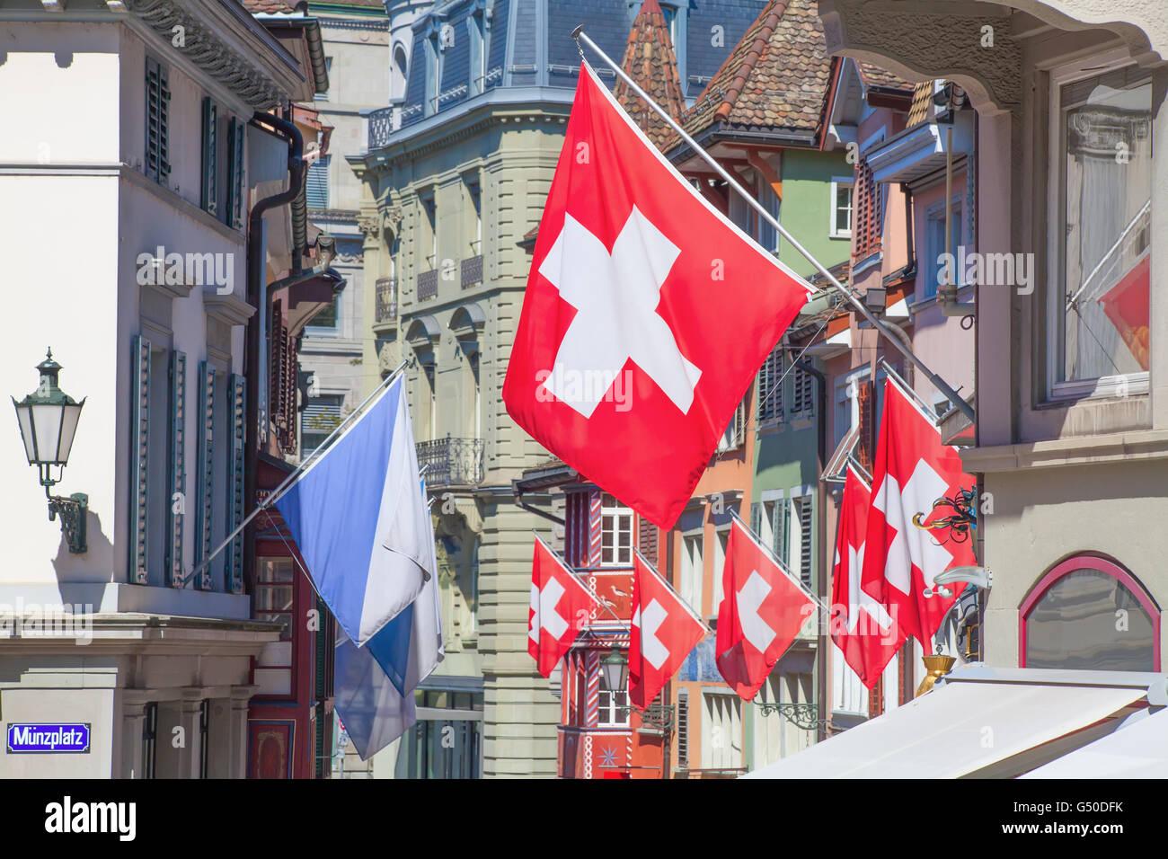 La Festa Nazionale svizzera su 1 Agosto a Zurigo, Svizzera Foto ...