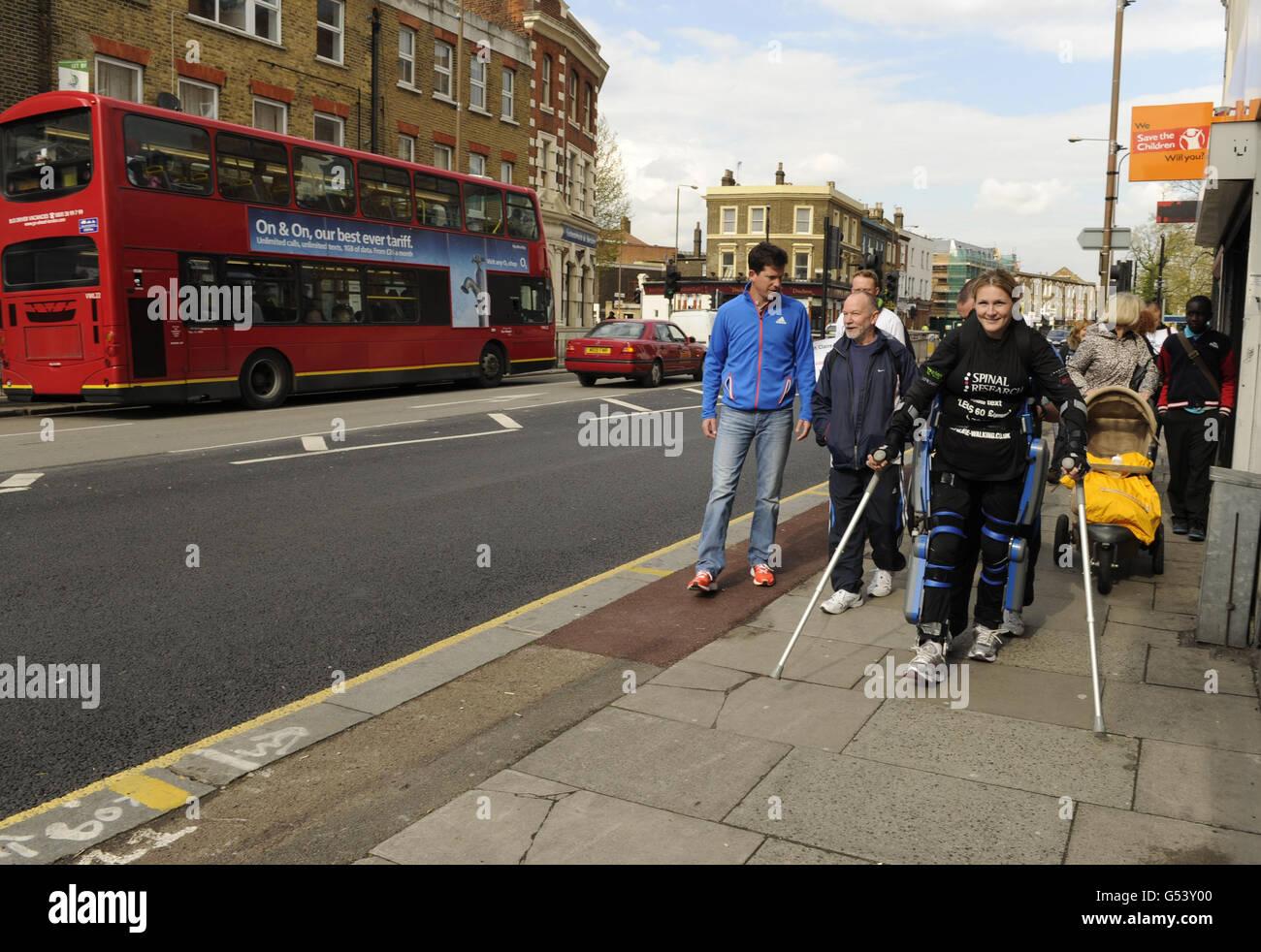 Atletica - XXXII VIRGIN LONDON MARATHON Immagini Stock