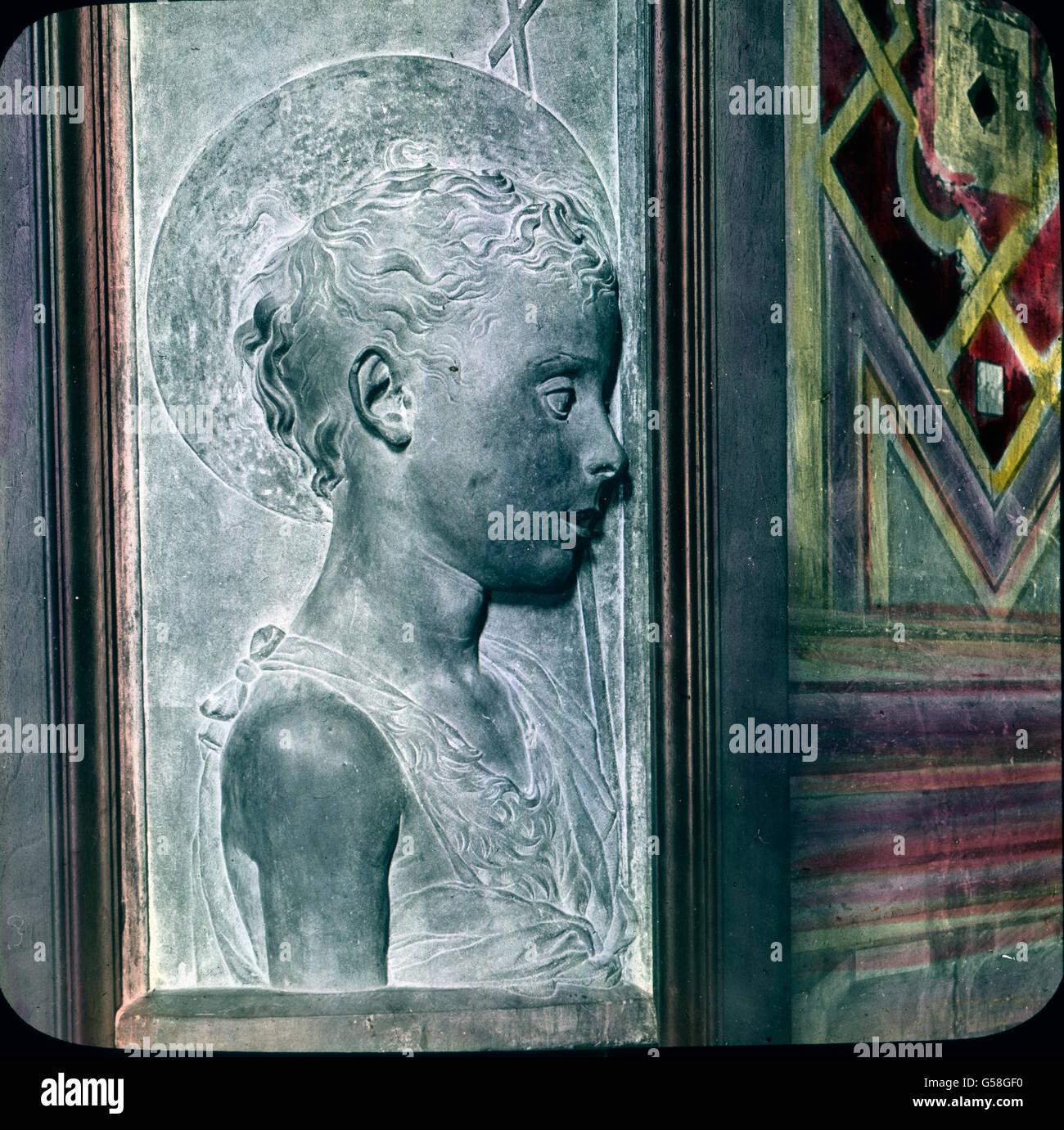 Schlichte Größe weiß Donatello mit Anmut zu verbinden in dem prächtigen sollievo des Johannes Immagini Stock