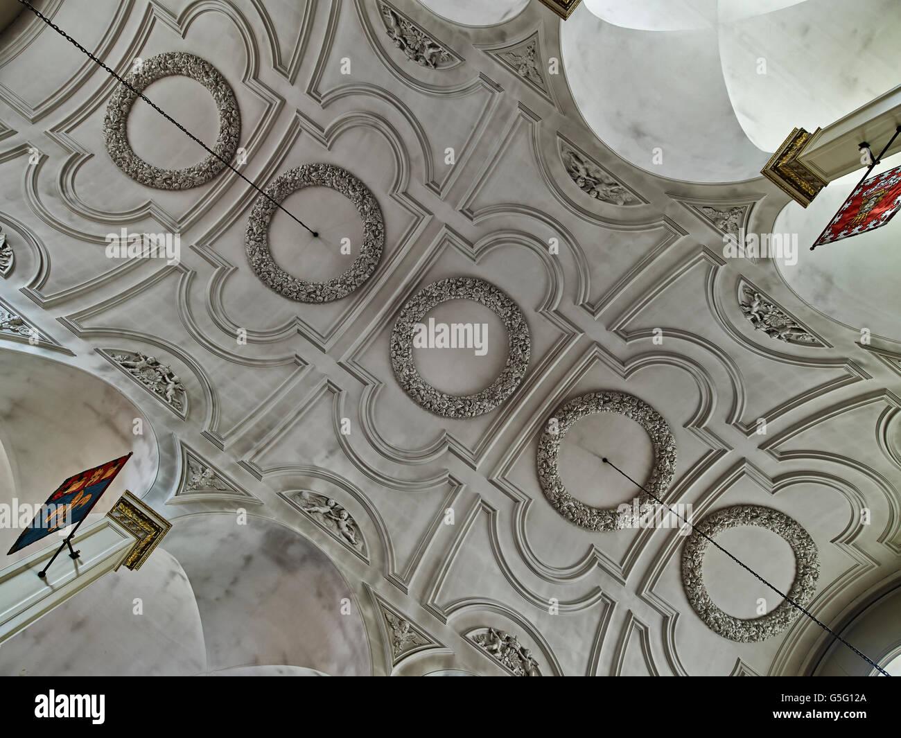 St Andrew dal guardaroba, ricostruita da Christopher Wren tra il 1685 e il 1694: soffitto Immagini Stock