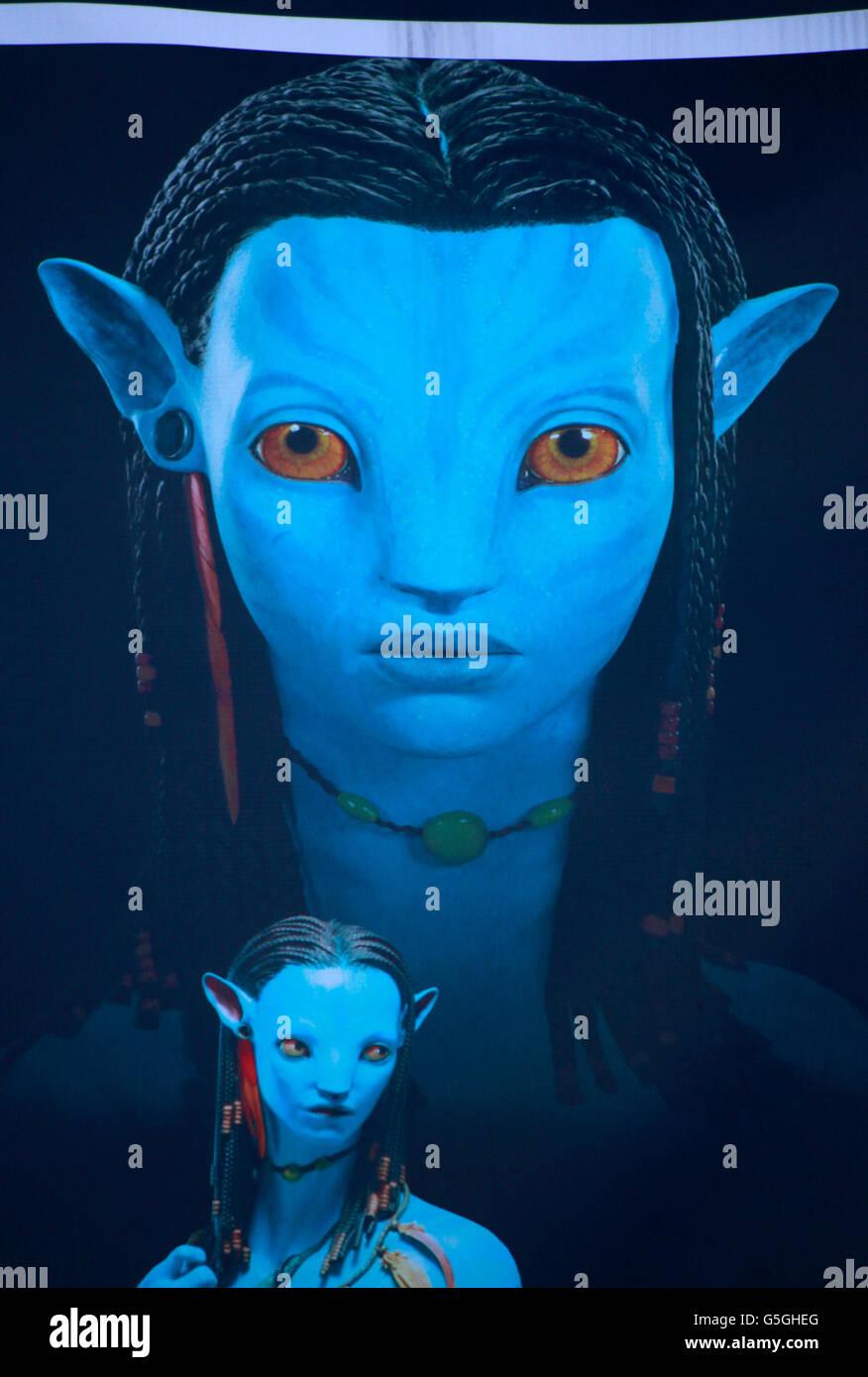 Eine figura aus dem Spielfilm ' Avatar Aufbruch nach Pandora', Berlino. Immagini Stock