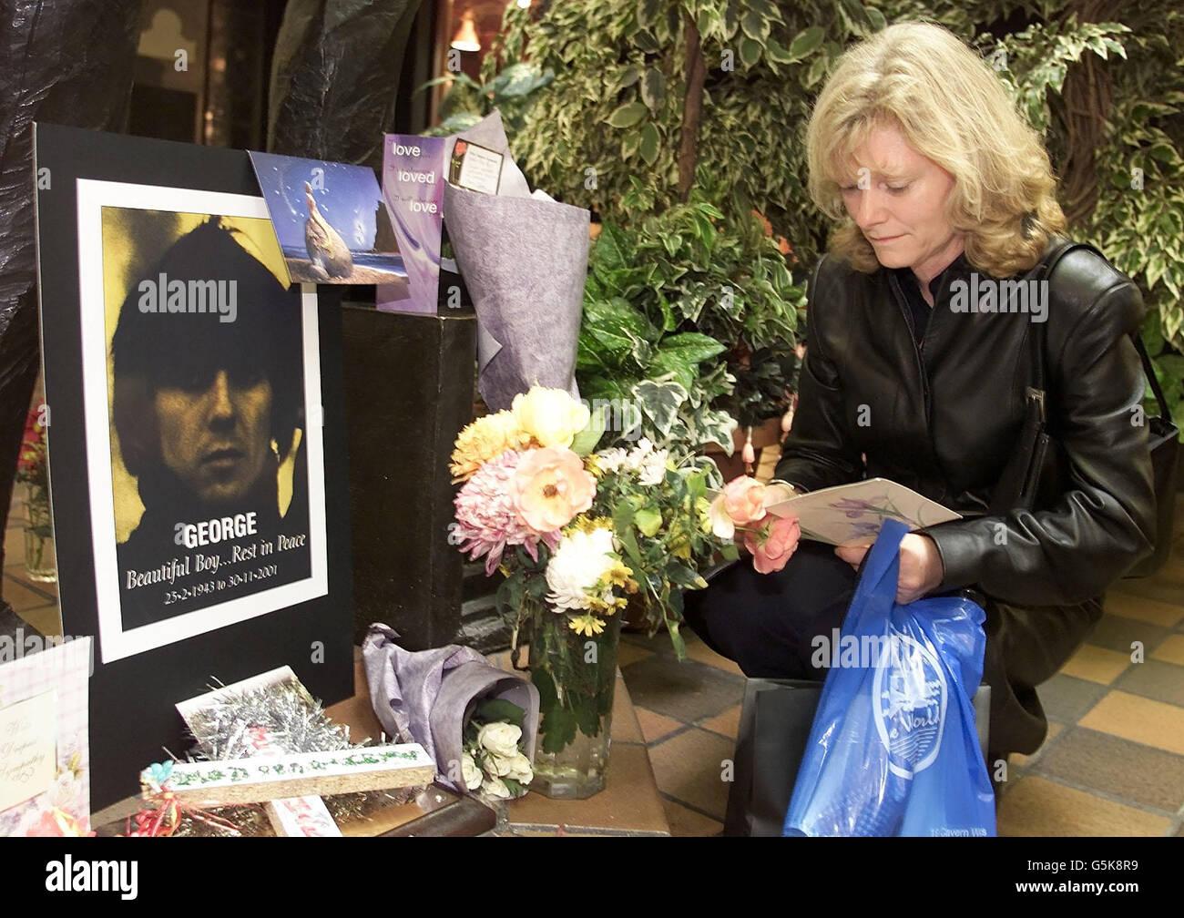 George Harrison morte Foto stock - Alamy