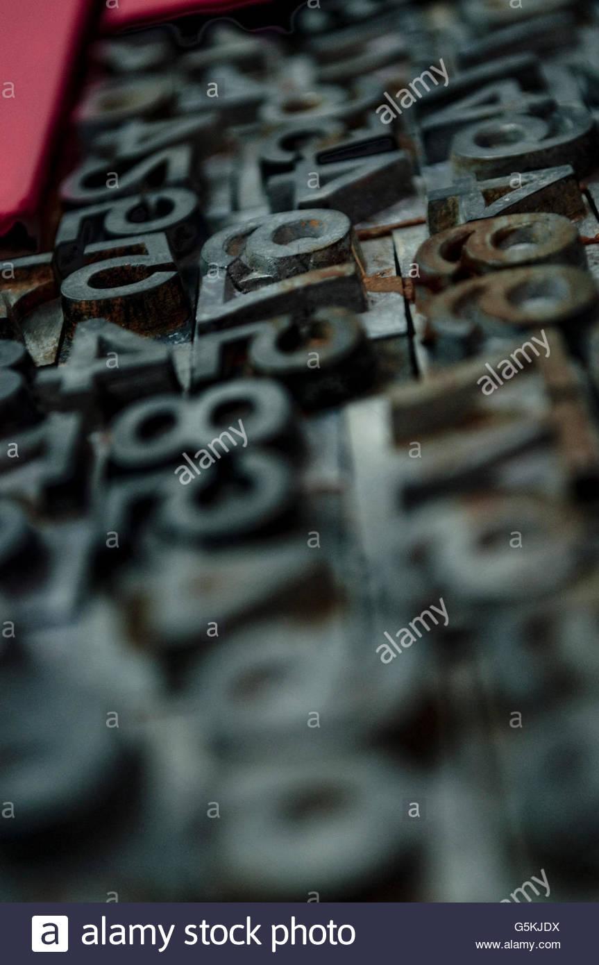 I numeri di microcosmo Immagini Stock