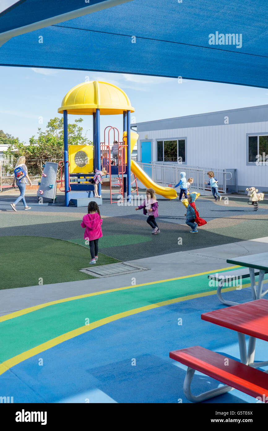 Parco giochi per bambini in età prescolare a San Diego, California Immagini Stock