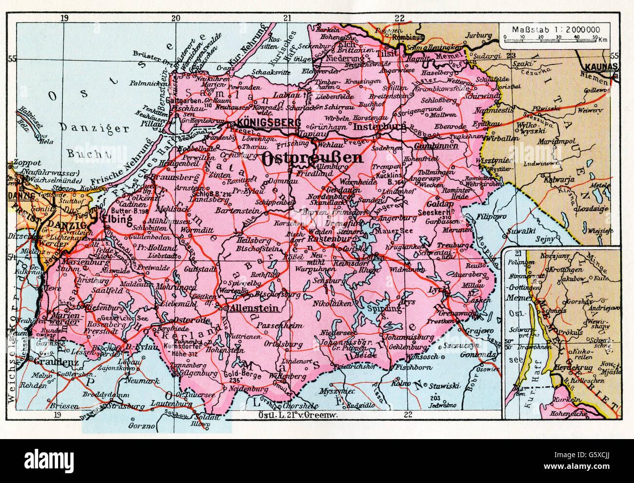 Cartina Europa 1938.Cartografia Cartina Europa Germania Distretto Prussia Orientale Politischer Handatlas Georg Westermann Brunswick 1938 Diritti Aggiuntivi Non Disponibili Foto Stock Alamy