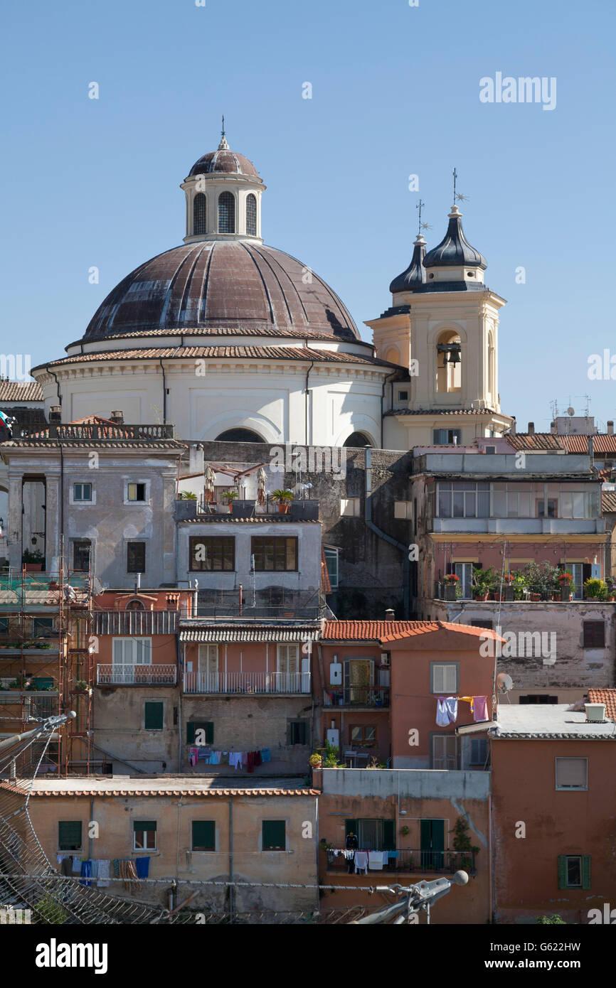 Santa Maria Assunta in Cielo la chiesa, Ariccia, Lazio, l'Italia, Europa Immagini Stock