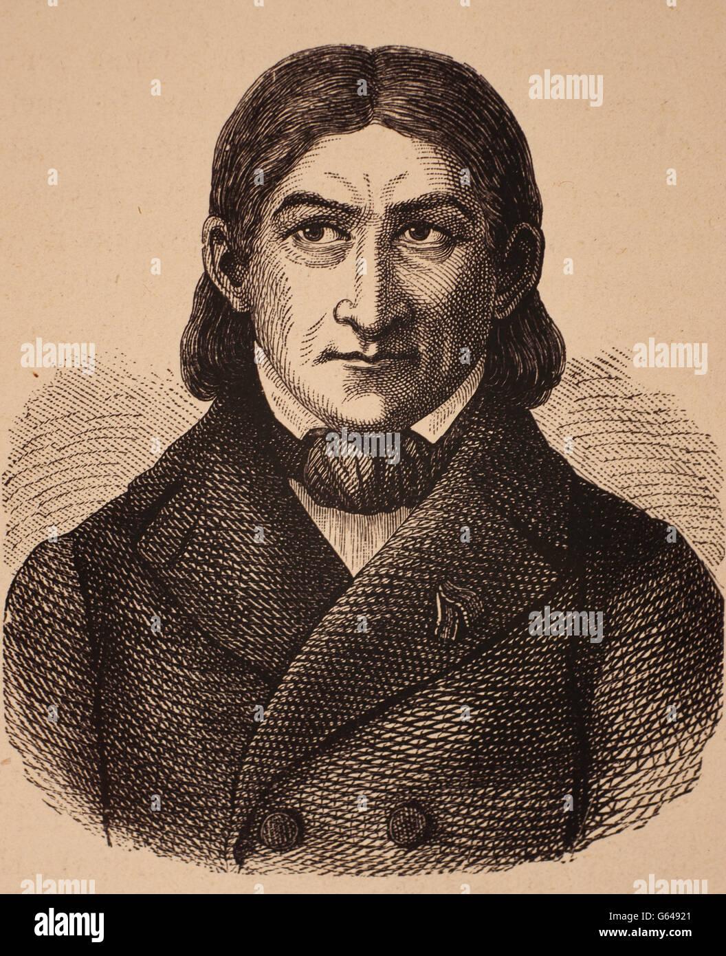 Friedrich Wilhelm August Fröbel (Oberweißbach, 21 Aprile 1782 - Marienthal, 21 giugno 1852) era un insegnante Immagini Stock
