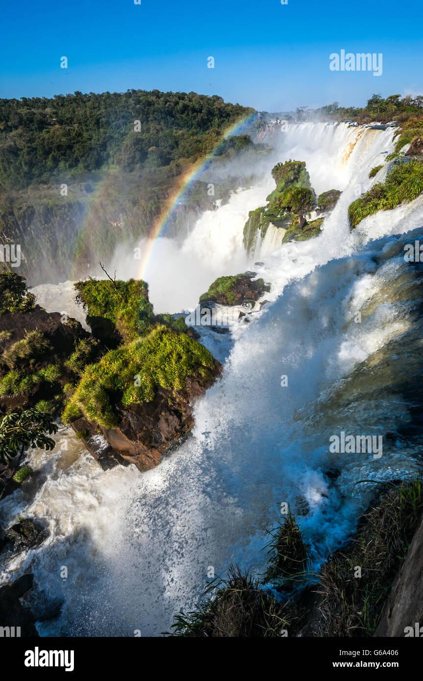 Cascate Iguacu dal lato Argentina Foto Stock
