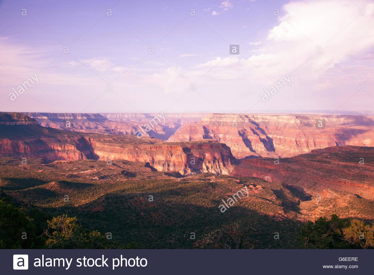Vista da Crazy brocca punto North Rim Grand Canyon National Park in Arizona Immagini Stock