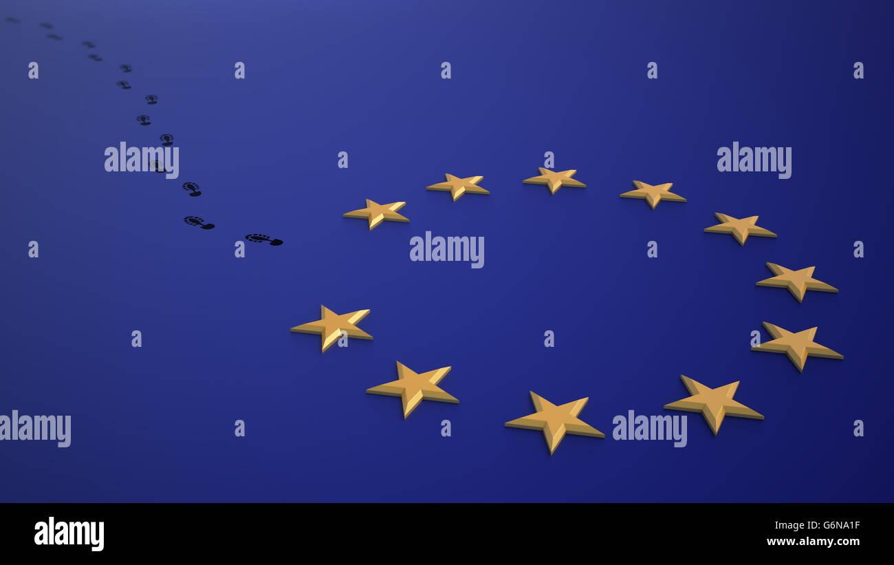 Brexit - british referendum a lasciare l'UE. Immagini Stock