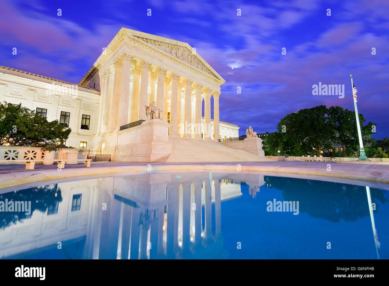 La Corte suprema degli Stati Uniti nella costruzione di Washington DC, Stati Uniti d'America. Immagini Stock