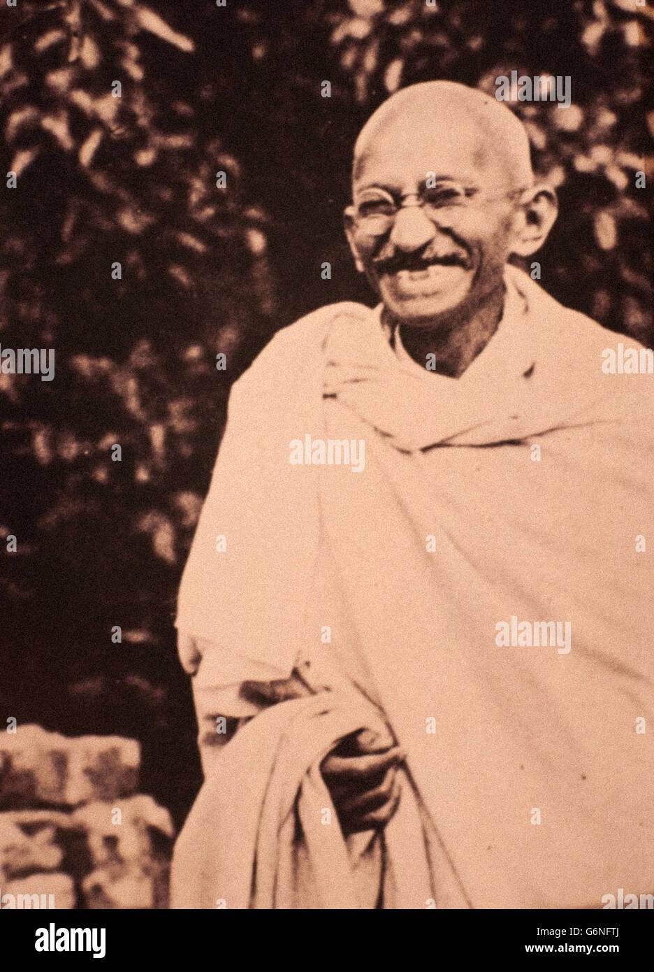 Mohandas Karamchand Gandhi - ha detto il Mahatma (Porbandar, 2 Ottobre 1869 - New Delhi, 30 gennaio 1948) - Immagini Stock