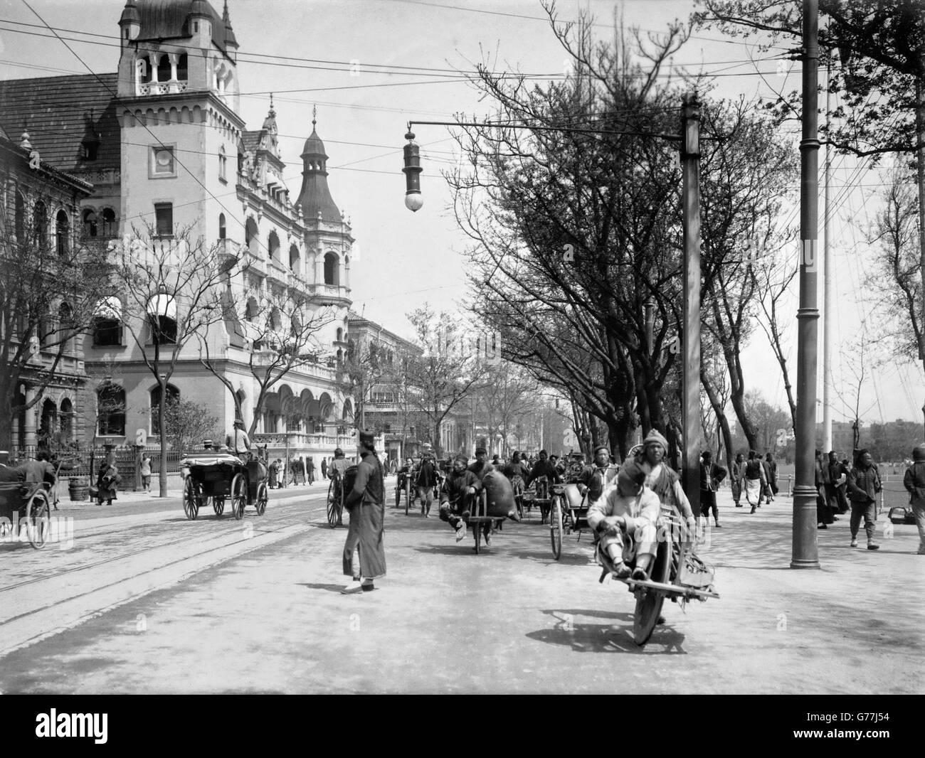 Il Bund a Shanghai in Cina, c.1910. Immagini Stock