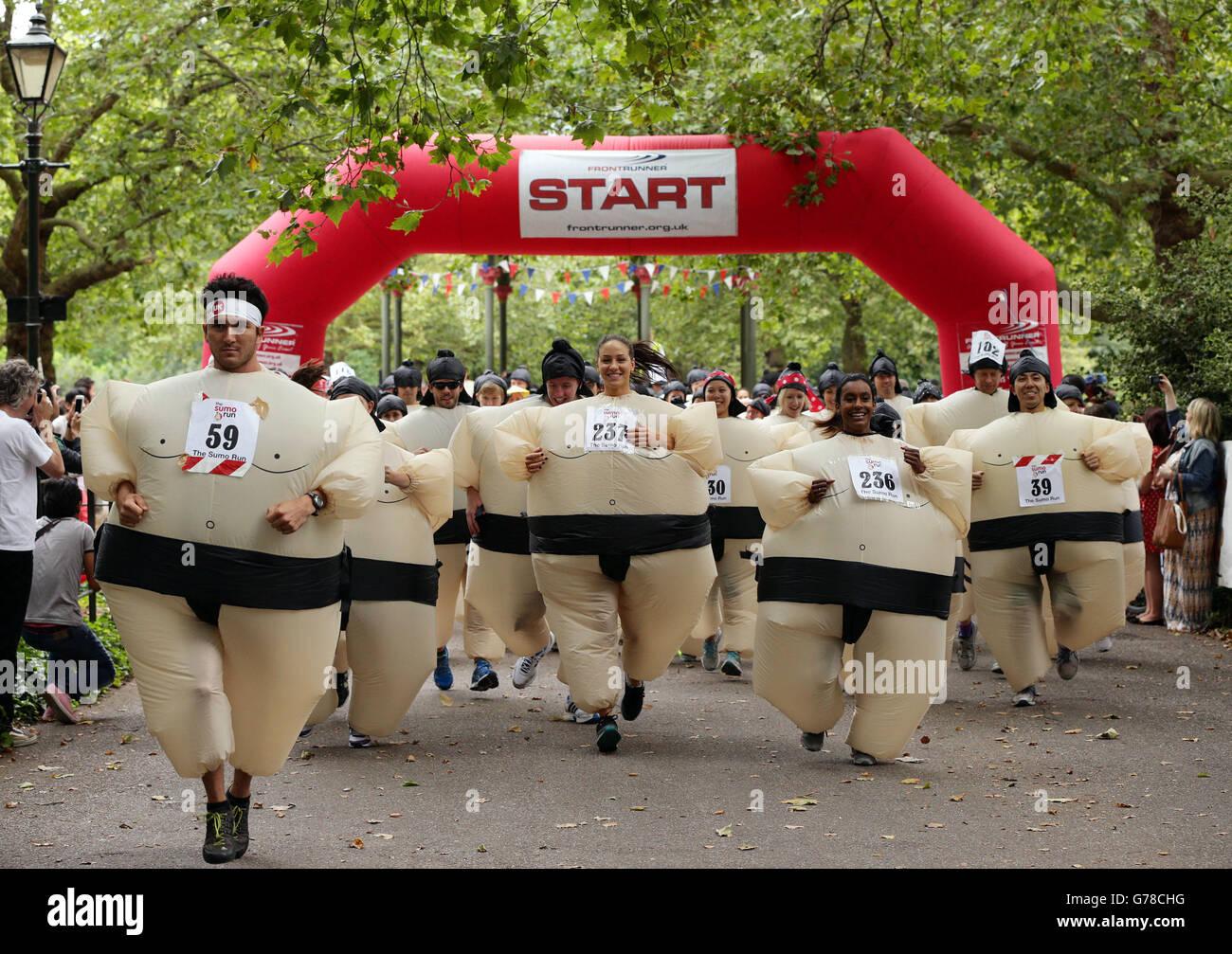 5 k Sumo Run Immagini Stock