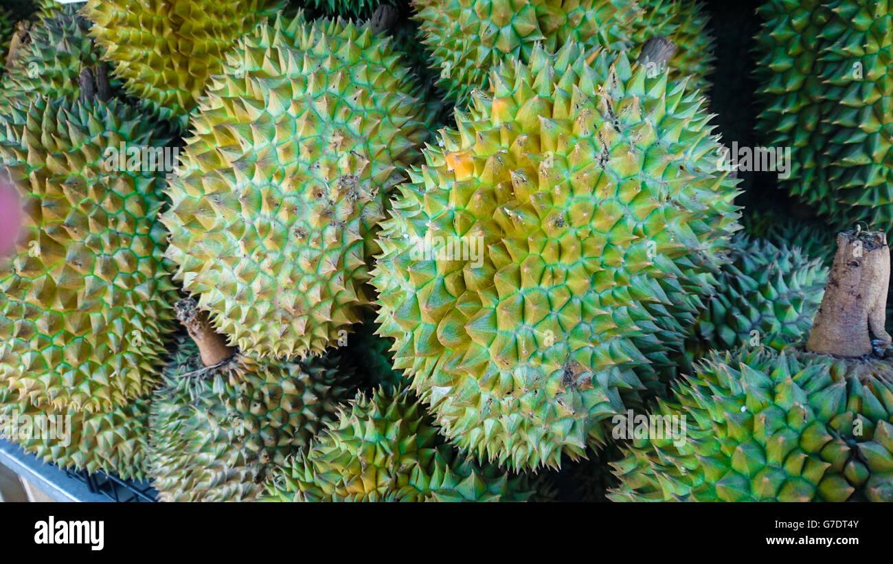 Durian è il re della frutta della Thailandia Foto Stock