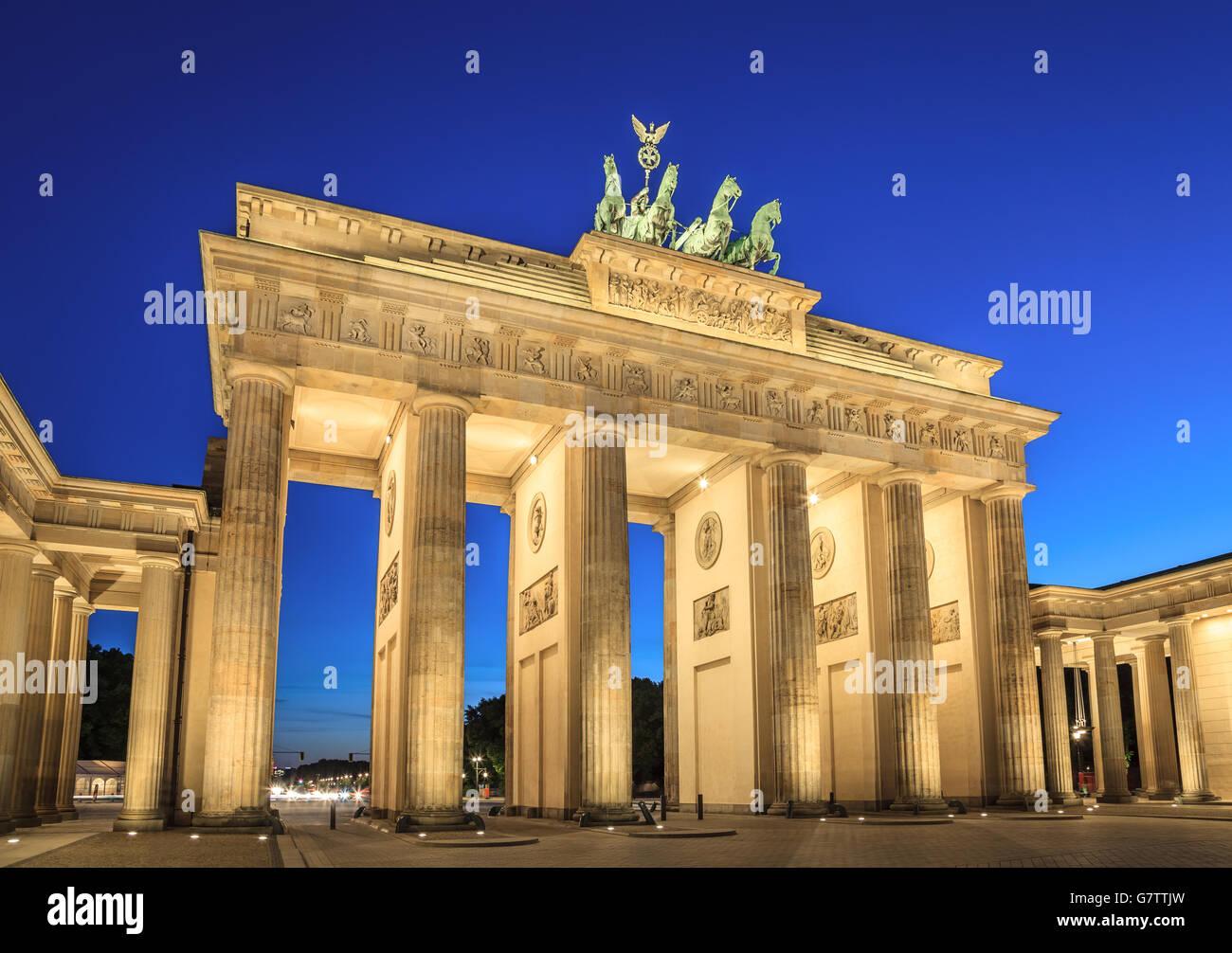 La Porta di Brandeburgo, Berlino, Germania Immagini Stock