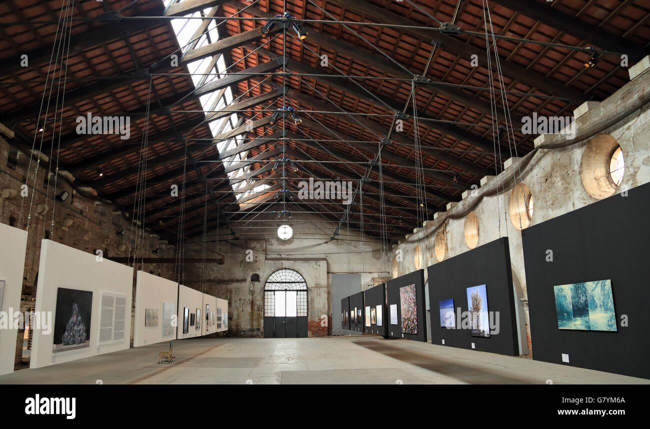 Biennale - premio Arte Laguna 2016 allâ Arsenale di Venezia Immagini Stock