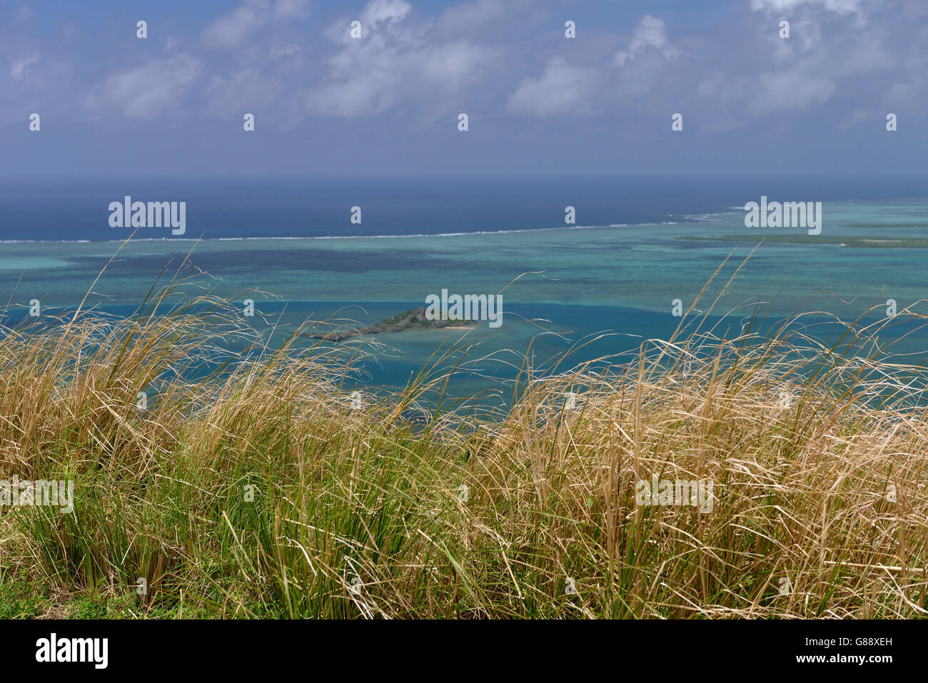 Vista della Baia di Port du Sud-Est,, Rodrigues Immagini Stock