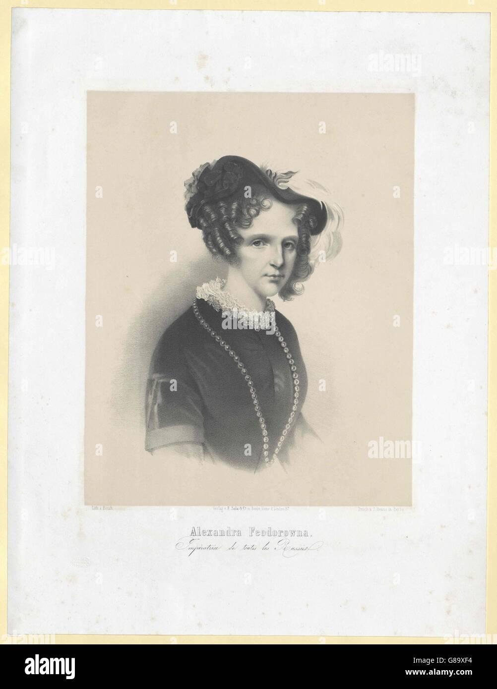 Charlotte, Prinzessin von Preussen Foto Stock