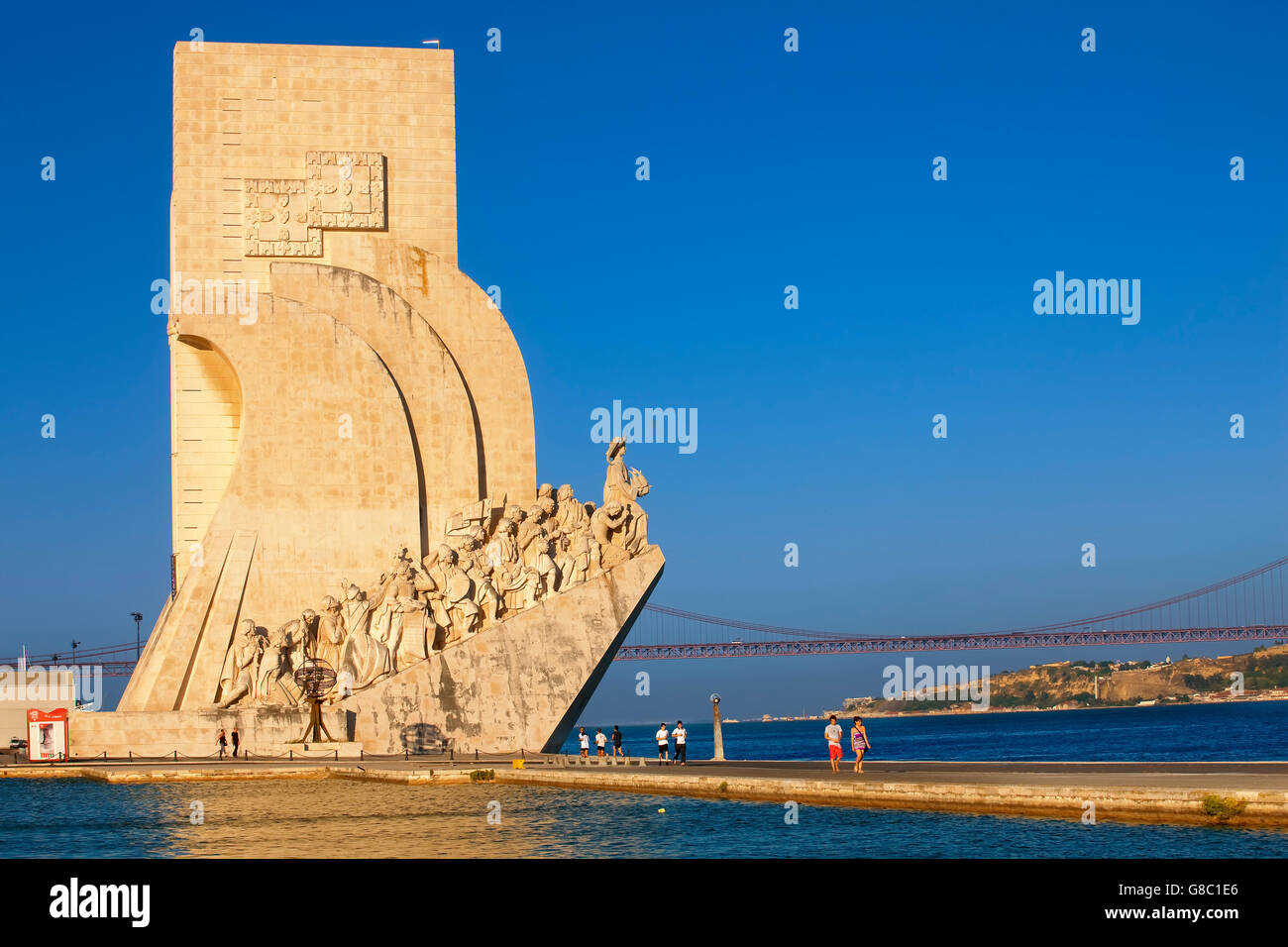 Il monumento alle scoperte in Belem, Lisbona Immagini Stock