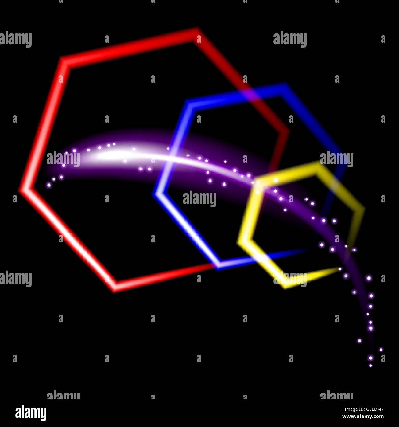 Neon Colore Sfondo Vettoriale Astratta Vettore Eps10