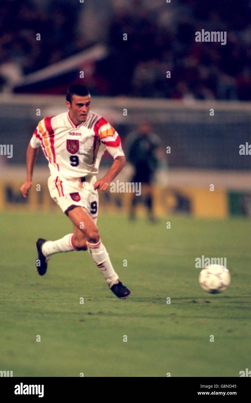 Calcio - qualificatore della Coppa del mondo - Slovacchia / Spagna. Luis  Enrique Martinez, Spagna Foto stock - Alamy