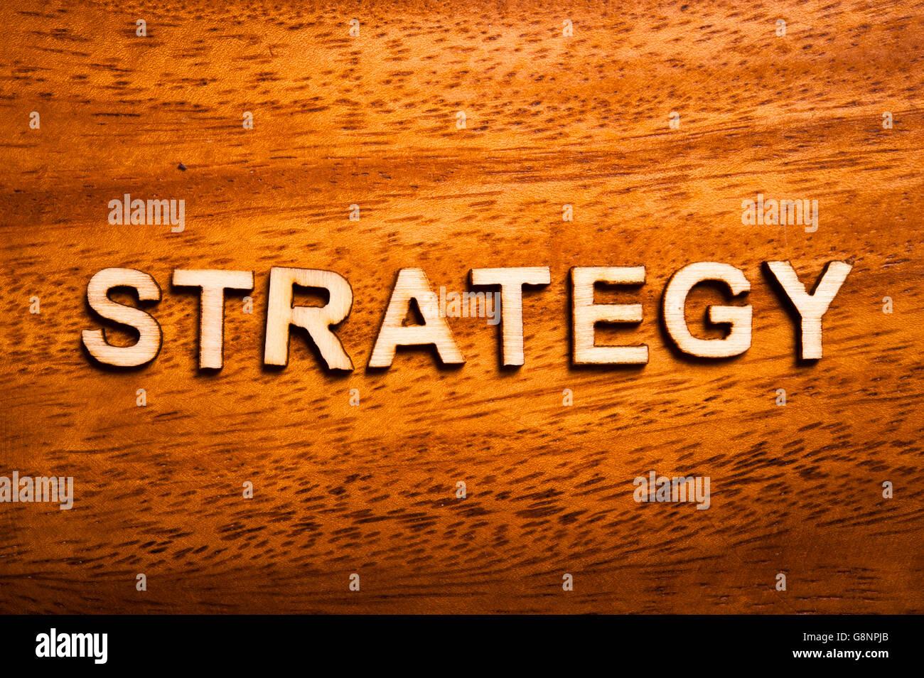 Il concetto di strategia Immagini Stock