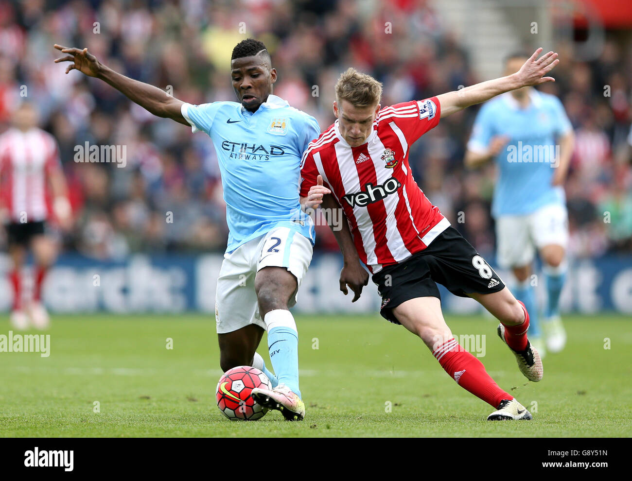 Southampton v Manchester City - Barclays Premier League - St Marys Immagini Stock