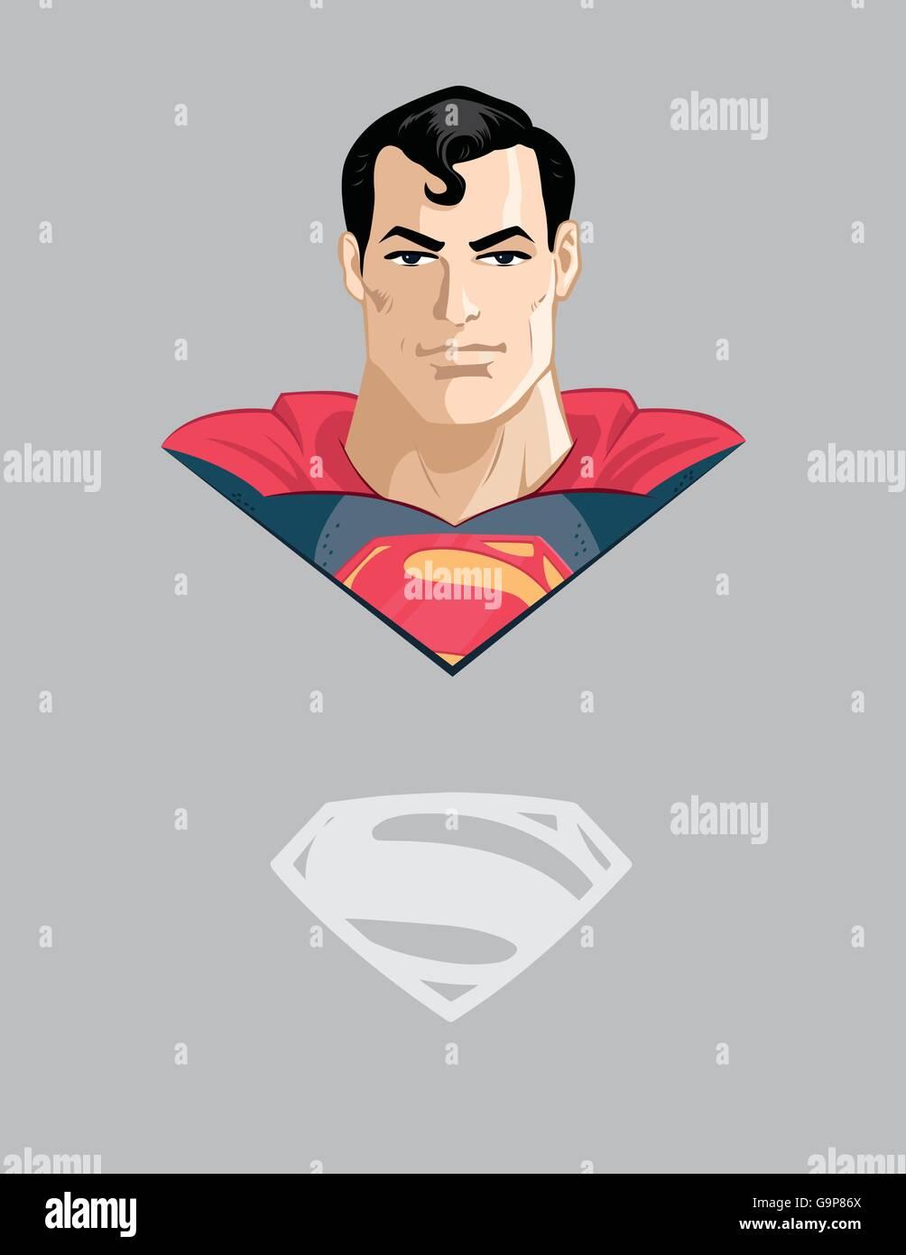 Superman uomo super carattere personaggio dei fumetti marvel