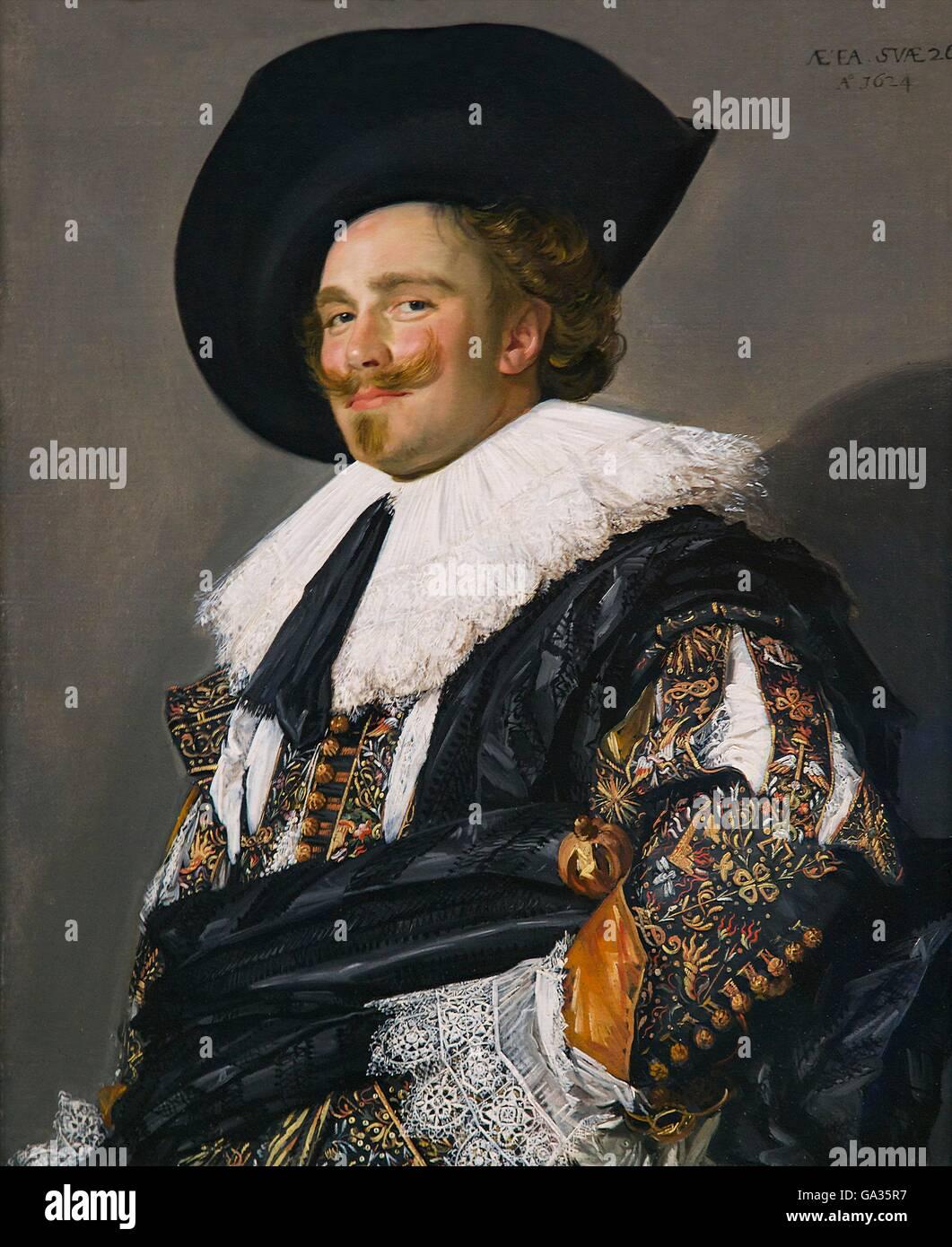 Ridendo Cavalier da Franz Hals, 1624, Wallace Collection di Londra, Inghilterra, Regno Unito, GB, Europa Immagini Stock