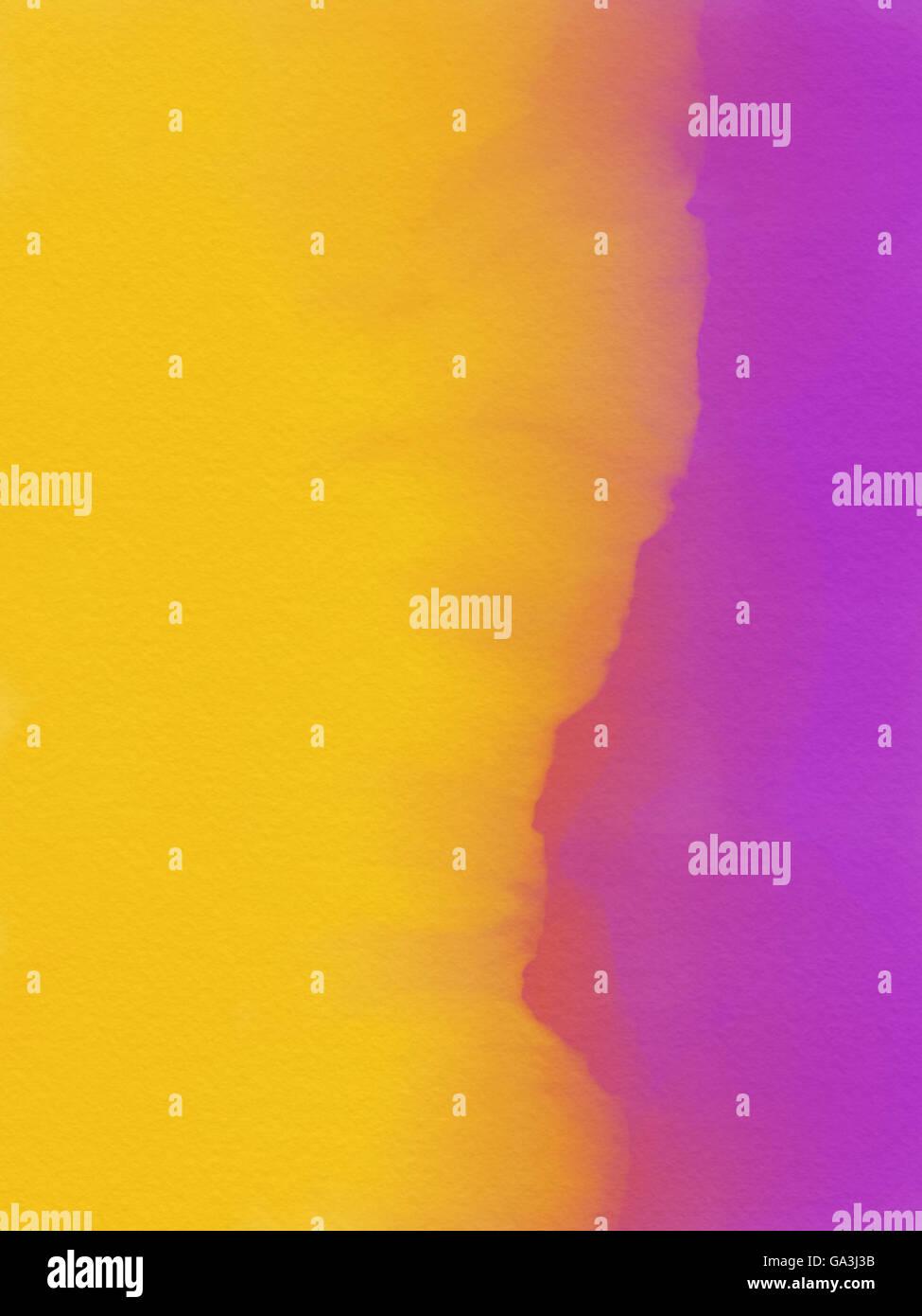 Acquerelli astratti sfondo - porpora e giallo Immagini Stock